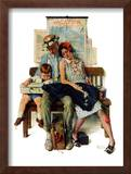 """Home from Vacation"", September 13,1930 Framed Giclee Print by Norman Rockwell"