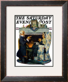"""Tea for Two"" or ""Tea Time"" Saturday Evening Post Cover, October 22,1927 Framed Giclee Print by Norman Rockwell"