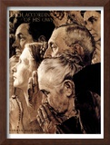 """Freedom of Worship"", February 27,1943 Framed Giclee Print by Norman Rockwell"