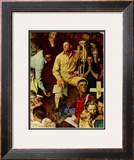 """The Long Shadow of Lincoln"", February 10,1945 Framed Giclee Print by Norman Rockwell"