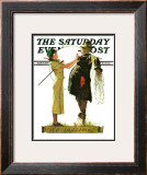 """Springtime, 1936"" Saturday Evening Post Cover, April 25,1936 Framed Giclee Print by Norman Rockwell"