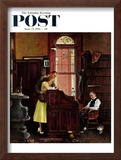 """Marriage License"" Saturday Evening Post Cover, June 11,1955 Framed Giclee Print by Norman Rockwell"