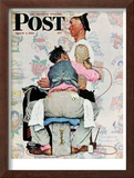 """Tattoo Artist"" Saturday Evening Post Cover, March 4,1944 Framed Giclee Print by Norman Rockwell"