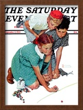 """Marble Champion"" or ""Marbles Champ"" Saturday Evening Post Cover, September 2,1939 Framed Giclee Print by Norman Rockwell"