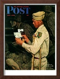 """War Bond"" Saturday Evening Post Cover, July 1,1944 Framed Giclee Print by Norman Rockwell"