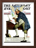 """""""Independence"""" or """"Ben Franklin"""" Saturday Evening Post Cover, May 29,1926 Framed Giclee Print by Norman Rockwell"""