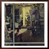 """Shuffleton's Barbershop"", April 29,1950 Framed Giclee Print by Norman Rockwell"