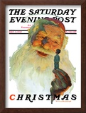 """Christmas, 1927"" (King Kong Santa) Saturday Evening Post Cover, December 3,1927 Framed Giclee Print by Norman Rockwell"