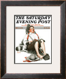 """Lazybones"" Saturday Evening Post Cover, September 6,1919 Framed Giclee Print by Norman Rockwell"
