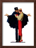 """Lost in Paris"" or ""Boulevard Haussmann"", January 30,1932 Framed Giclee Print by Norman Rockwell"
