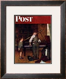 """Piano Tuner"" Saturday Evening Post Cover, January 11,1947 Framed Giclee Print by Norman Rockwell"