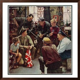 """Homecoming Marine"", October 13,1945 Framed Giclee Print by Norman Rockwell"