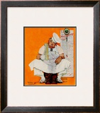 """Thanksgiving Day Blues"", November 28,1942 Framed Giclee Print by Norman Rockwell"