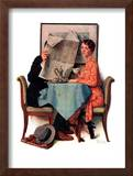 """Breakfast Table"" or ""Behind the Newspaper"", August 23,1930 Framed Giclee Print by Norman Rockwell"