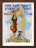 """Springtime, 1933"" Saturday Evening Post Cover, April 8,1933 Framed Giclee Print by Norman Rockwell"