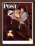 """Charwomen"" Saturday Evening Post Cover, April 6,1946 Framed Giclee Print by Norman Rockwell"
