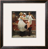 """After the Prom"", May 25,1957 Framed Giclee Print by Norman Rockwell"