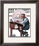"""Escape to Adventure"" Saturday Evening Post Cover, June 7,1924 Framed Giclee Print by Norman Rockwell"