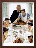 """""""Freedom From Want"""", March 6,1943 Framed Giclee Print by Norman Rockwell"""