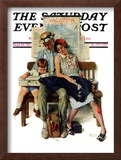 """Home from Vacation"" Saturday Evening Post Cover, September 13,1930 Framed Giclee Print by Norman Rockwell"