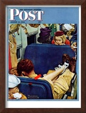 """Travel Experience"" Saturday Evening Post Cover, August 12,1944 Framed Giclee Print by Norman Rockwell"