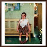"""Shiner"" or ""Outside the Principal's Office"", May 23,1953 Framed Giclee Print by Norman Rockwell"