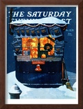 """Newsstand in the Snow"" Saturday Evening Post Cover, December 20,1941 Framed Giclee Print by Norman Rockwell"