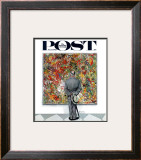 """Art Connoisseur"" Saturday Evening Post Cover, January 13,1962 Framed Giclee Print by Norman Rockwell"