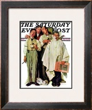 """Barbershop Quartet"" Saturday Evening Post Cover, September 26,1936 Framed Giclee Print by Norman Rockwell"