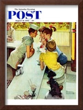 """Soda Jerk"" Saturday Evening Post Cover, August 22,1953 Framed Giclee Print by Norman Rockwell"