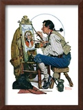 """Colonial Sign Painter"", February 6,1926 Framed Giclee Print by Norman Rockwell"