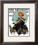 """Springtime, 1927"" Saturday Evening Post Cover, April 16,1927 Framed Giclee Print by Norman Rockwell"