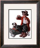 """Sick Puppy"", March 10,1923 Framed Giclee Print by Norman Rockwell"