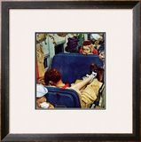 &quot;Travel Experience&quot;, August 12,1944 Framed Giclee Print by Norman Rockwell