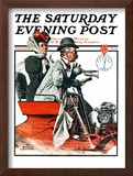 """Speeding Along"" Saturday Evening Post Cover, July 19,1924 Framed Giclee Print by Norman Rockwell"