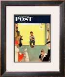 """At the Vets"" Saturday Evening Post Cover, March 29,1952 Framed Giclee Print by Norman Rockwell"