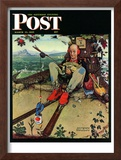 """April Fool, 1945"" Saturday Evening Post Cover, March 31,1945 Framed Giclee Print by Norman Rockwell"