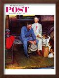 """Breaking Home Ties"" Saturday Evening Post Cover, September 25,1954 Framed Giclee Print by Norman Rockwell"