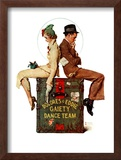 """""""Gaiety Dance Team"""", June 12,1937 Framed Giclee Print by Norman Rockwell"""