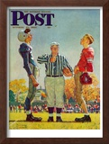 """Coin Toss"" Saturday Evening Post Cover, October 21,1950 Framed Giclee Print by Norman Rockwell"