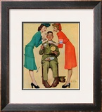&quot;Willie Gillis at the U.S.O.&quot;, February 7,1942 Framed Giclee Print by Norman Rockwell