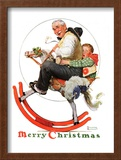 """Gramps on Rocking Horse"", December 16,1933 Framed Giclee Print by Norman Rockwell"