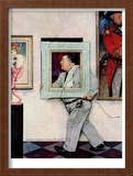 """""""Picture Hanger"""" or """"Museum Worker"""", March 2,1946 Framed Giclee Print by Norman Rockwell"""