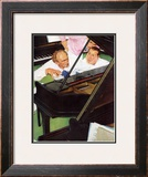 """Jeff Raleigh's Piano Solo"", May 27,1939 Framed Giclee Print by Norman Rockwell"