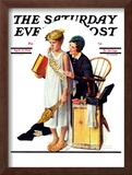 """Spirit of Education"" Saturday Evening Post Cover, April 21,1934 Framed Giclee Print by Norman Rockwell"