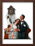 """Courting under the Clock at Midnight"", March 22,1919 Framed Giclee Print by Norman Rockwell"