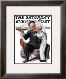 """Setting One's Sights"" or ""Ship Ahoy"" Saturday Evening Post Cover, August 19,1922 Framed Giclee Print by Norman Rockwell"