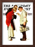 """Partygoers"" Saturday Evening Post Cover, March 9,1935 Framed Giclee Print by Norman Rockwell"