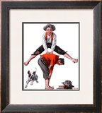 """Leapfrog"", June 28,1919 Framed Giclee Print by Norman Rockwell"