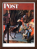 """Circus Artist"" Saturday Evening Post Cover, May 3,1947 Framed Giclee Print by Norman Rockwell"